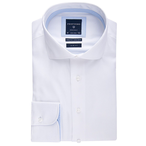 Profuomo Overhemd  - Wit - Slim fit (1)